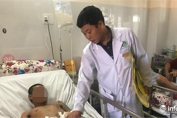 Bệnh viện quận cứu sống thanh niên đa chấn thương vì bị xe rác ép vào tường