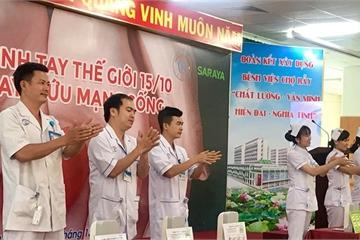 TPHCM: Các bệnh viện đồng loạt phát động vệ sinh tay