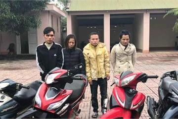 """Hà Tĩnh: Bắt khẩn cấp nhóm """"siêu trộm"""" xe máy liên tỉnh"""
