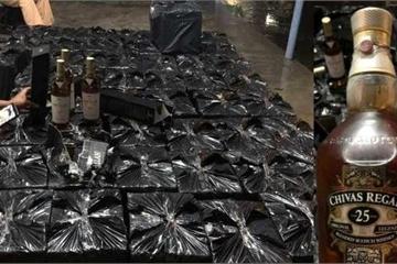 Huế: Xe đầu kéo chở hơn 600 chai rượu Maccalan, Chivas lậu trị giá gần 1 tỷ đồng