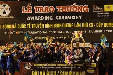 CLB B.Bình Dương vô địch Giải bóng đá Quốc tế Cúp Number 1