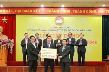 Tập đoàn Hưng Thịnh ủng hộ 5 tỷ đồng hỗ trợ phòng chống dịch Covid-19