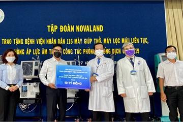 Novaland tặng máy lọc máu, máy thở, phòng áp lực âm cho Bệnh viện Nhân dân 115