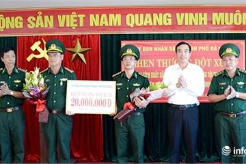 """Đà Nẵng: Khen thưởng đột xuất đặc nhiệm biên phòng phá án ma túy """"khủng"""""""