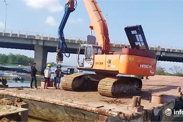 Đà Nẵng: Từ hôm nay, dừng giao thông thủy trên sông Cẩm Lệ để xây đập tạm ngăn mặn