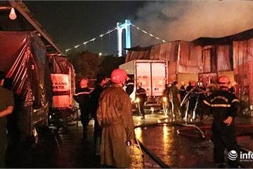 Bãi xe lớn ở Đà Nẵng bất ngờ bốc cháy dữ dội lúc giữa đêm