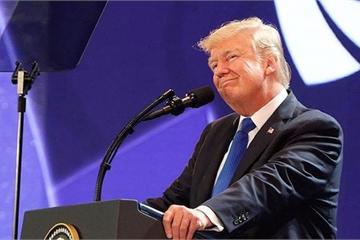 Tổng thống Donald Trump và chiếc phông nền màu tím ở hội nghị thượng đỉnh Đà Nẵng