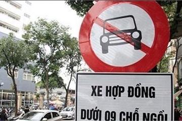 Đề xuất bỏ biến cấm taxi, xe hợp đồng dưới 9 chỗ trên nhiều tuyến phố Hà Nội
