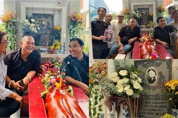 Sao Việt 05/10: Quyền Linh, Lê Tuấn Anh thăm mộ, nhớ lại kỷ niệm với Lê Công Tuấn Anh