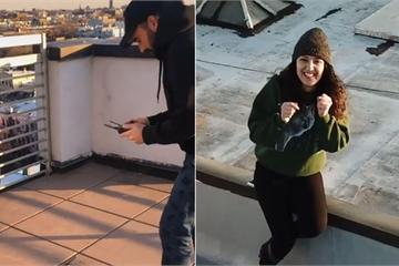 Ở nhà tránh dịch, thanh niên FA cưa đổ cô gái tòa nhà kế bên bằng fly-cam