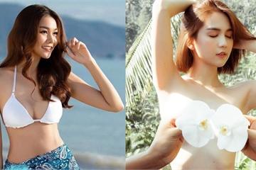 Vòng eo 53cm: Siêu mẫu Thanh Hằng soán ngôi Ngọc Trinh