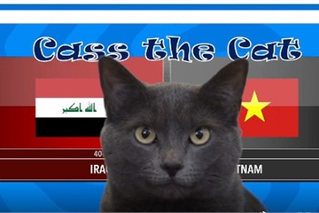 """""""Mèo tiên tri"""" dự đoán kết quả trận Việt Nam vs Iraq tại Asian Cup 2019"""