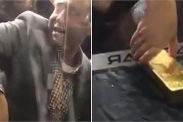 """Thử thách """"khó nhằn"""" lấy thỏi vàng 20kg ở sân bay Dubai"""