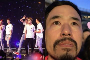 Nam diễn viên Mỹ 45 tuổi bật khóc nức nở trong liveshow của BTS