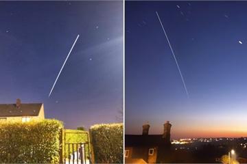 Bất ngờ chụp được khoảnh khắc hi hữu Trạm vũ trụ Quốc tế bay qua Trái Đất