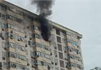 Đang cháy chung cư tại Nam Trung Yên, Hà Nội