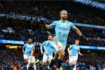 Vòng 25 Ngoại hạng Anh: Sergio Aguero rực sáng, Man City đòi lại vị trí thứ hai từ tay Tottenham