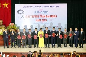 Giải thưởng Trần Đại Nghĩa năm 2019 cho 4 công trình khoa học xuất sắc