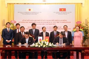 Đẩy mạnh tiếp nhận lao động kỹ năng đặc định Việt Nam sang Nhật Bản làm việc
