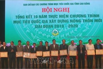 Cao Bằng khen thưởng cho nhiều tập thể, cá nhân tích cực xây dựng nông thôn mới
