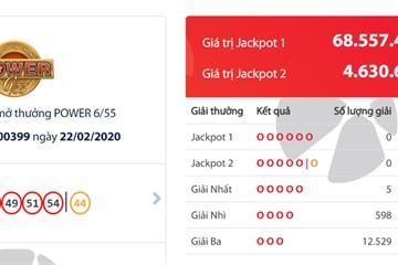 5 người trúng Vietlott, Jackpot gần 70 tỷ vẫn đang đợi người may mắn