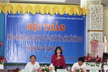 Hội thảo nông dân tham gia thực hiện bộ tiêu chí nông thôn mới nâng cao tỉnh Đồng Nai
