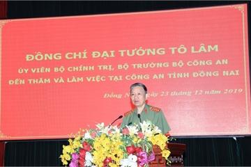 Bộ trưởng Bộ Công an: Xử lý dứt điểm những tồn tại, hạn chế ở Công an Đồng Nai