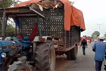 Bình Phước: Xe tải tông đuôi máy cày, 2 người tử vong