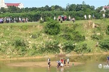Xót xa hai cha con đuối nước trên sông Ngàn Sâu