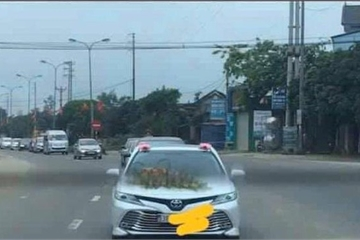 Hà Tĩnh: Đoàn ô tô rước dâu giữa đại dịch Covid-19 gây xôn xao mạng xã hội