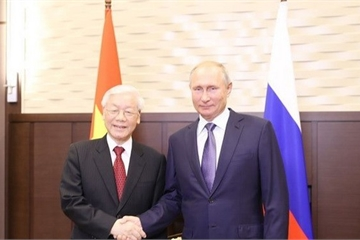 Điện mừng kỷ niệm 25 năm ký kết Hiệp ước Nguyên tắc cơ bản Quan hệ Hữu nghị Việt - Nga