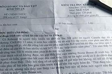 """Lộ đề thi lớp 12 tại Bình Thuận: Đã xác định được người """"tuồn"""" đề"""