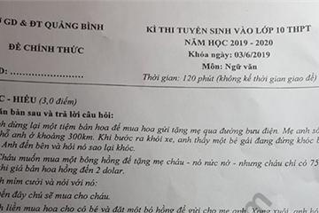 Đáp án đề thi vào lớp 10 môn Văn Sở GD&ĐT Quảng Bình năm 2019