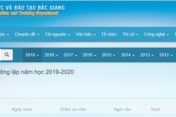 Tra cứu điểm thi và điểm chuẩn vào lớp 10 năm 2019 tại Bắc Giang