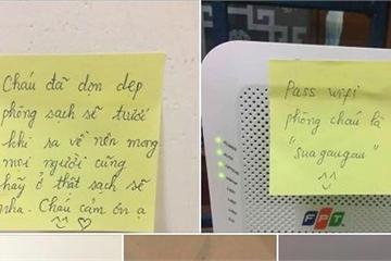 """Lời nhắn cực dễ thương của nữ sinh sư phạm gửi """"người lạ"""" sắp đến khu cách ly"""