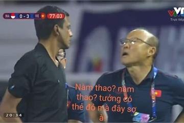 """Hài hước màn chế ảnh """"không sợ thẻ đỏ"""" của CĐM dành cho HLV Park Hang Seo"""