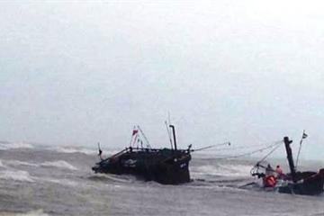 Quảng Bình: Sóng cao 5m đánh chìm hàng chục tàu cá, 7 người bị thương