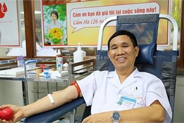 Bác sĩ 40 lần hiến máu cứu bệnh nhân cấp cứu