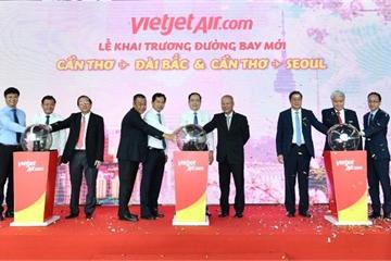 Vietjet khai trương hai đường bay kết nối Cần Thơ với Seoul, Đài Bắc