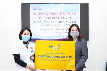 PVcomBank tài trợ vật tư y tế cho bệnh viện chống dịch