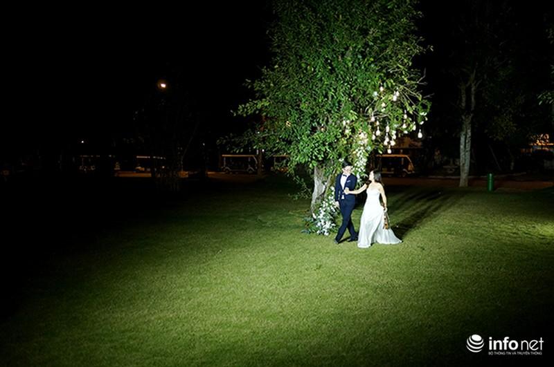 Bữa tiệc ánh sáng trong đám cưới ngoài trời độc đáo tại Hà Nội - ảnh 3