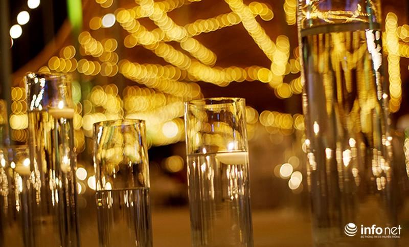 Bữa tiệc ánh sáng trong đám cưới ngoài trời độc đáo tại Hà Nội - ảnh 9