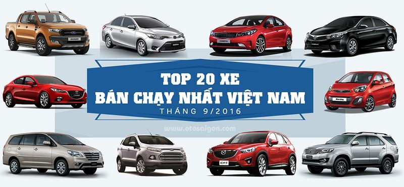 Top 20 xe bán chạy nhất Việt Nam trong tháng 9 - ảnh 1