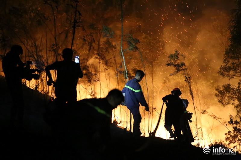 Chùm ảnh: Hơn 2000 người xuyên đêm chữa cháy cứu rừng phòng hộ - ảnh 8