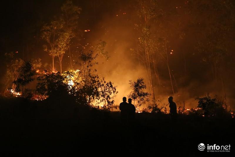 Chùm ảnh: Hơn 2000 người xuyên đêm chữa cháy cứu rừng phòng hộ - ảnh 2