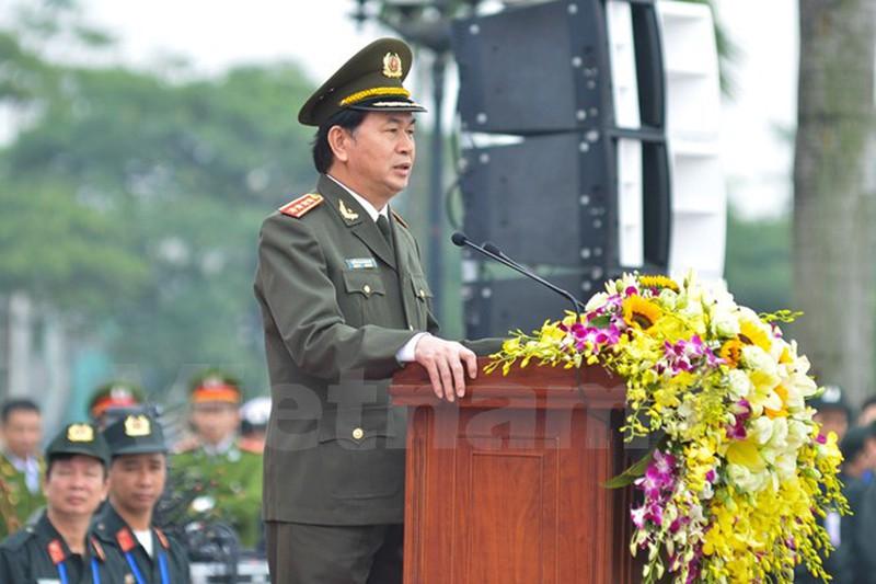 Hình ảnh lễ xuất quân bảo vệ Đại hội Đảng 12 - ảnh 1
