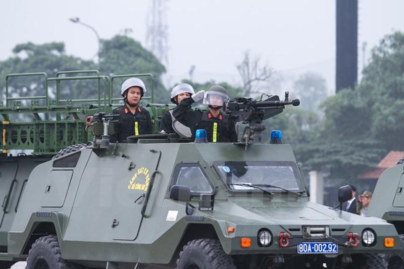Hình ảnh lễ xuất quân bảo vệ Đại hội Đảng 12 - ảnh 9