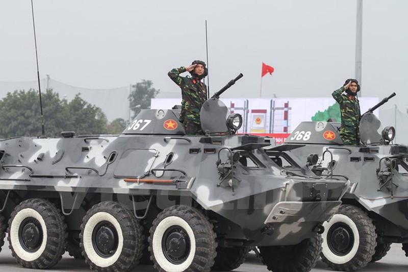 Hình ảnh lễ xuất quân bảo vệ Đại hội Đảng 12 - ảnh 10