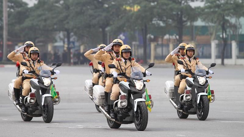 Hình ảnh lễ xuất quân bảo vệ Đại hội Đảng 12 - ảnh 3
