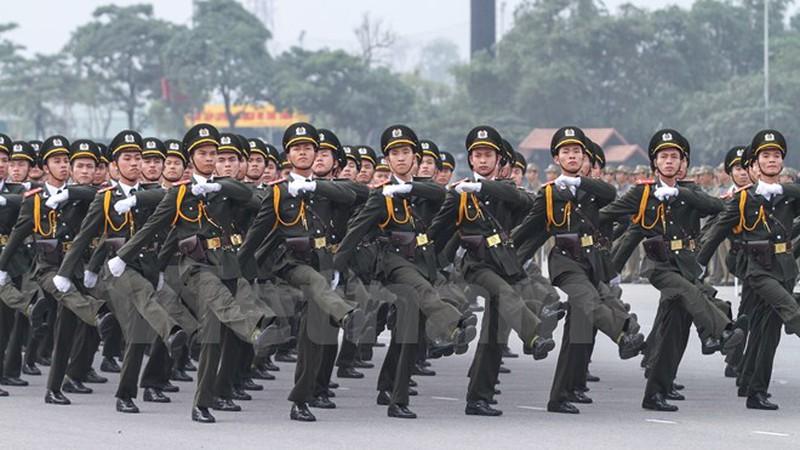 Hình ảnh lễ xuất quân bảo vệ Đại hội Đảng 12 - ảnh 4